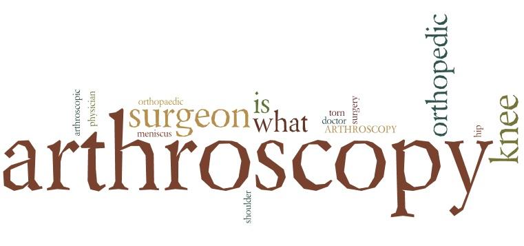 arthroscopy and arthroscopic surgery