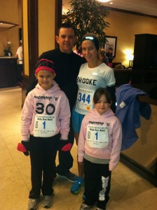 Personal Trainer Brooke Vernon with her family