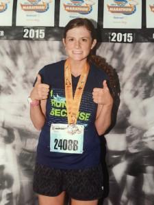 Marissa Lowe finished Derby Mini Marathon