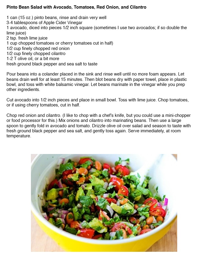 Pinto-Bean-Salad-with-Avocado-Tomatoes-Red-Onion-and-Cilantro-recipe ...