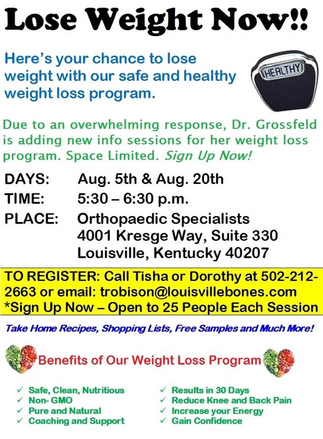 Weight loss Program August 2015