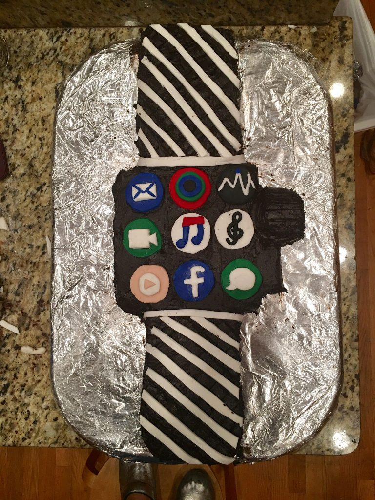 Pleasant Apple Watch Birthday Cake Cake Recipe Dr Stacie Grossfeld Personalised Birthday Cards Arneslily Jamesorg