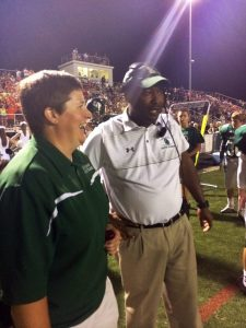 kelly pike, athletic trainer, with south oldham high school's football coach