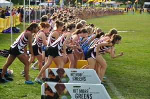 Student athletes running in a race are commonly injured